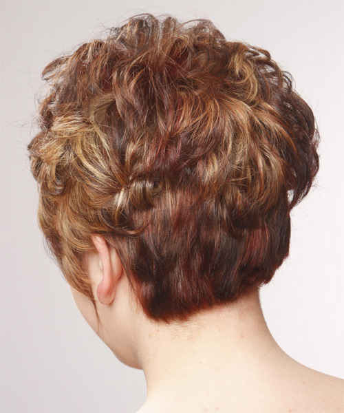 Short Straight Formal    Hairstyle   - Medium Red Hair Color - Side on View
