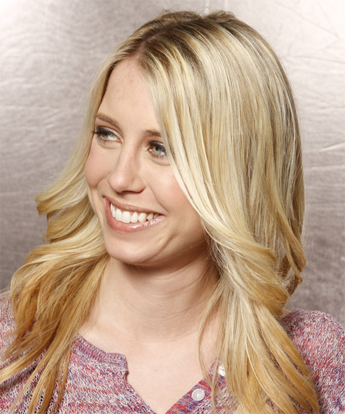 Long Wavy Formal   Hairstyle   - Light Blonde (Honey) - Side on View