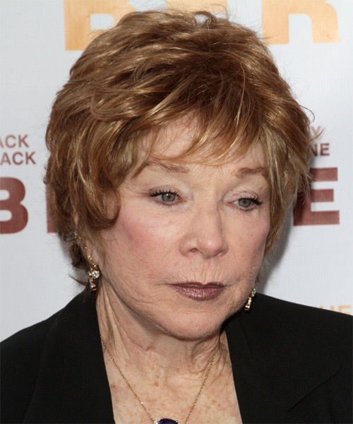 Shirley Maclaine Short Straight Casual   Hairstyle   - Dark Blonde (Copper) - Side on View