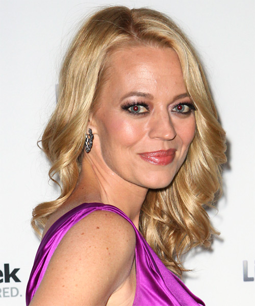 Jeri Ryan Medium Wavy Formal   Hairstyle   - Medium Blonde - Side on View