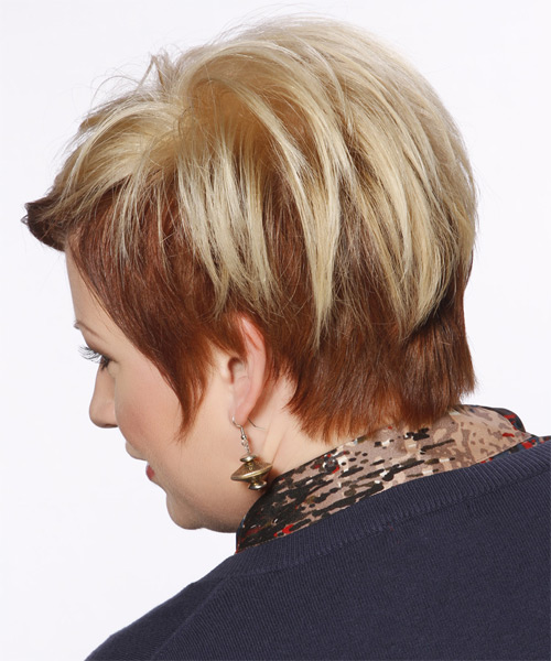 Short Straight Formal   Hairstyle   - Light Blonde - Side on View