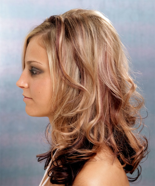 Long Wavy Formal   Hairstyle   - Side on View