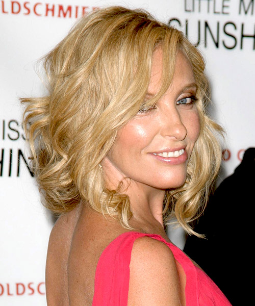 Toni Collette Medium Wavy Formal    Hairstyle   - Side on View