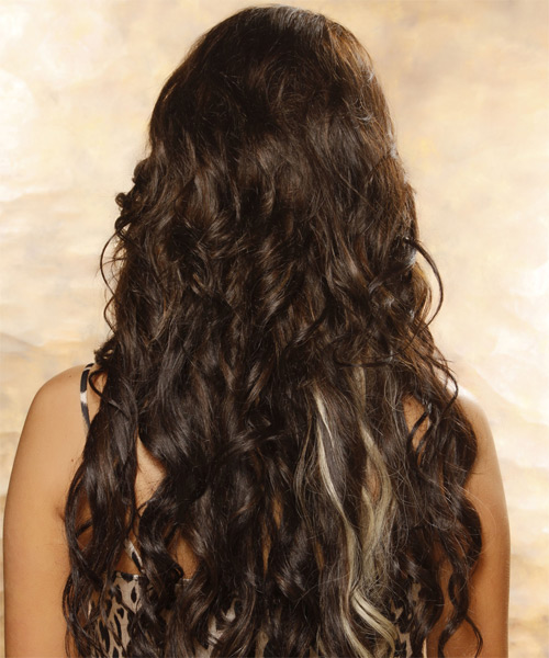 Long Curly Formal   Hairstyle   (Mocha) - Side on View