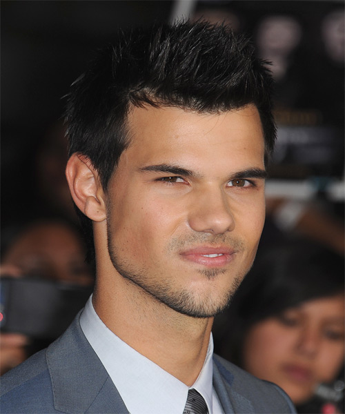 Taylor Lautner Short Straight Casual   Hairstyle   - Black (Ash) - Side on View