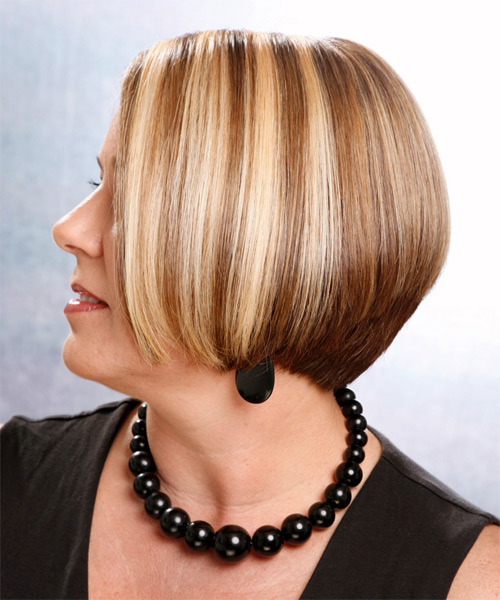 Medium Straight Casual    Hairstyle   -  Chestnut Blonde Hair Color - Side on View