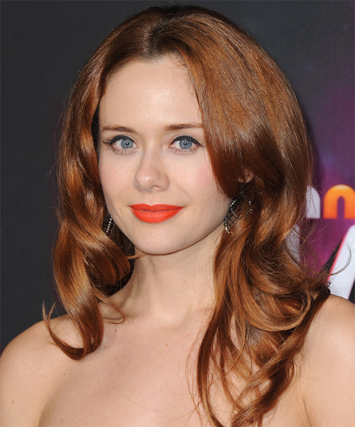 Haley Strode Long Straight Formal   Hairstyle   - Light Brunette (Auburn) - Side on View