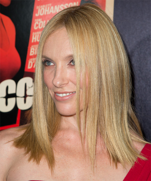 Toni Collette Medium Straight Formal    Hairstyle   -  Honey Blonde Hair Color - Side on View