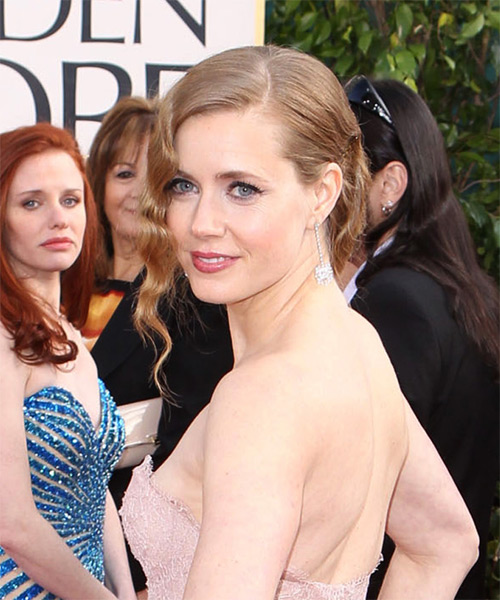 Amy Adams Updo Medium Curly Formal Wedding Updo Hairstyle   - Medium Blonde (Strawberry) - Side on View