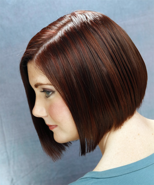 Medium Straight Casual Bob  Hairstyle   (Mocha) - Side on View