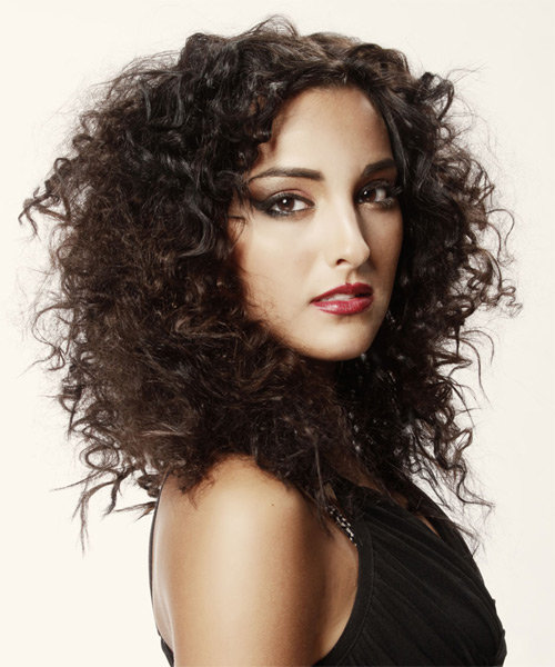 new hairs styles curly casual hairstyle mocha hair color 7402