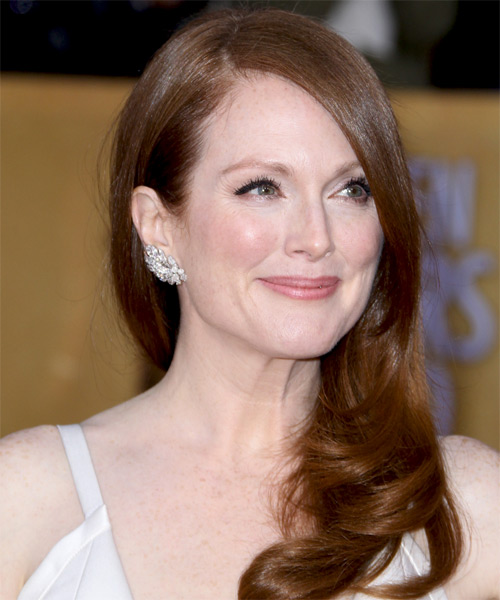 Julianne Moore Long Straight Formal    Hairstyle   - Side on View