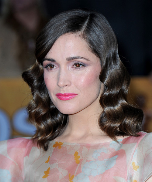Rose Byrne Medium Wavy Formal   Hairstyle   - Side on View