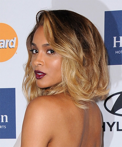 Ciara Casual Medium Straight Hairstyle - Brunette and ...