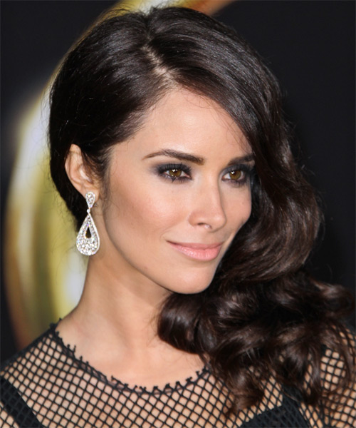 Abigail Spencer Long Wavy   Mocha   Hairstyle   - Side on View