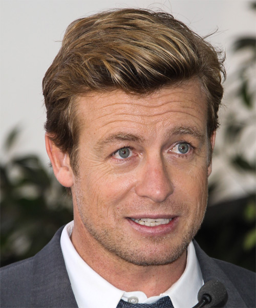 Simon Baker Short Straight    Blonde   Hairstyle   - Side on View