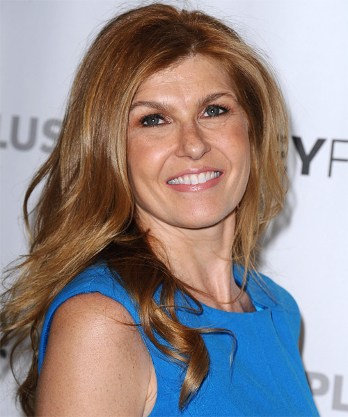 Connie Britton Long Straight Casual   Hairstyle   - Side on View