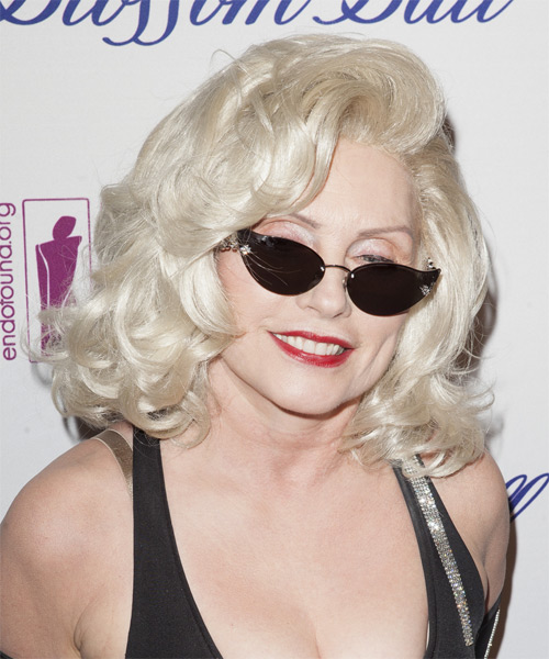 Debbie Harry Medium Wavy Formal   Hairstyle   - Side on View