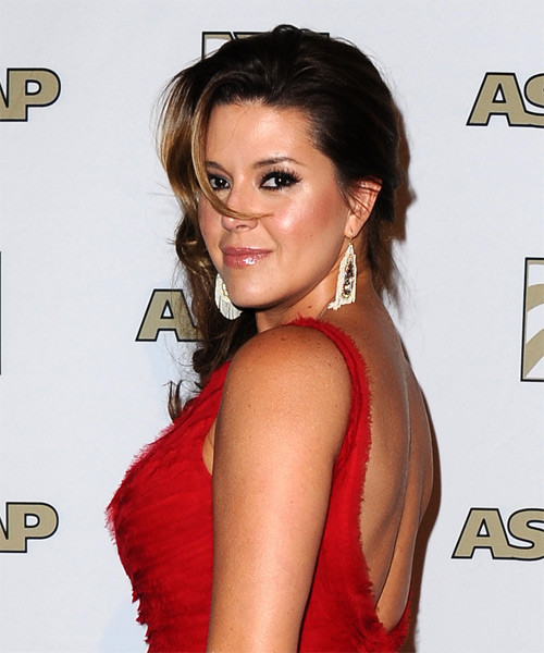 Alicia Machado Long Wavy Formal   Hairstyle   - Side on View