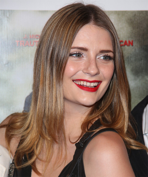 Mischa Barton Long Straight Casual   Hairstyle   - Side on View