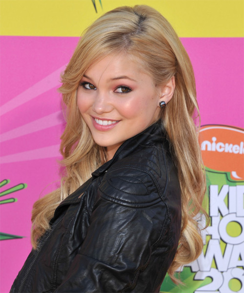 Olivia Holt Long Straight     Hairstyle   - Side on View