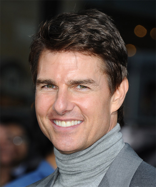 Tom Cruise Short Straight Casual    Hairstyle   -  Chestnut Brunette Hair Color - Side on View