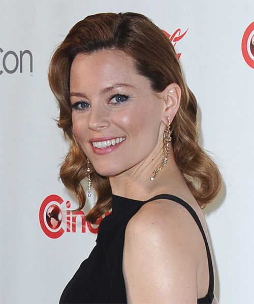 Elizabeth Banks Medium Wavy Formal   Hairstyle   - Dark Blonde - Side on View