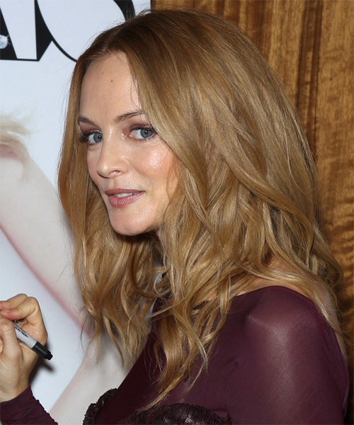 Heather Graham Medium Wavy Casual   Hairstyle   - Medium Blonde (Copper) - Side on View