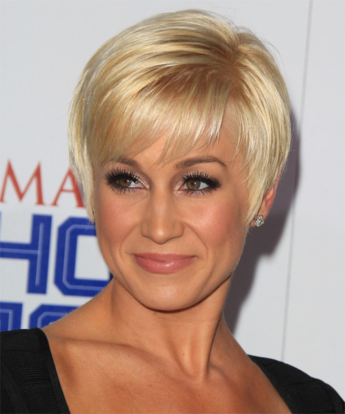 Kellie Pickler Short Straight Formal    Hairstyle   - Side on View