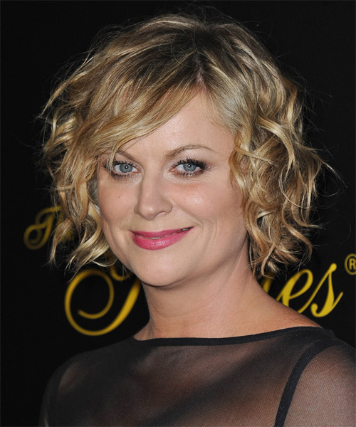 Amy Poehler Short Wavy Casual   Hairstyle   - Side on View