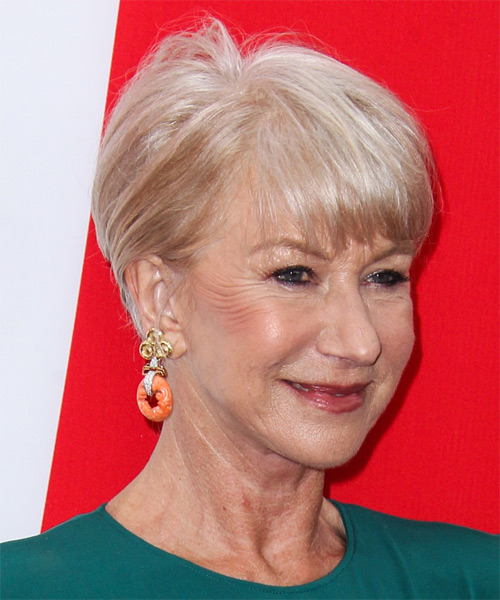 Helen Mirren Short Straight Casual    Hairstyle   - Side on View