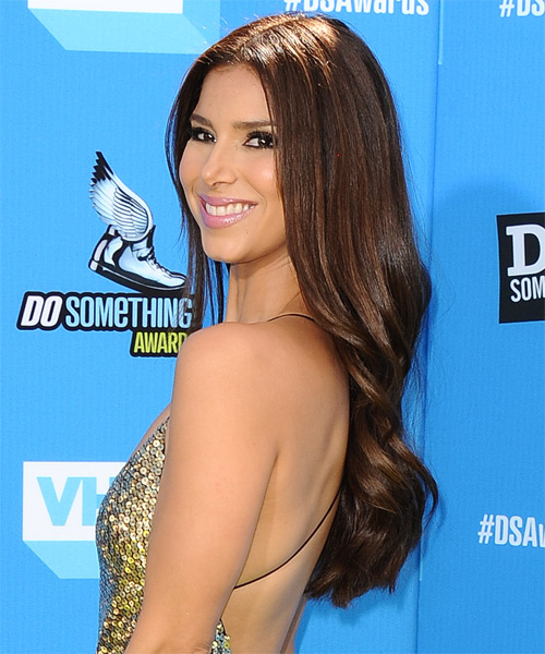 Roselyn Sanchez Long Straight Formal   Hairstyle   - Side on View