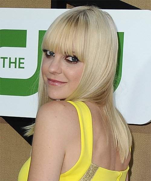 Anna Faris Long Straight Casual   Hairstyle   - Side on View