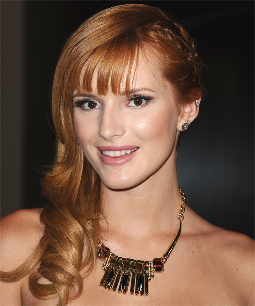Bella Thorne Long Wavy Formal   Hairstyle   - Side on View