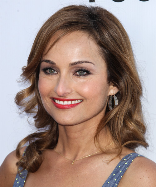 Giada De Laurentiis Long Wavy Casual   Hairstyle   - Side on View