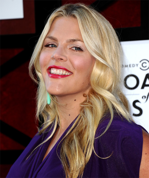 Busy Philipps Long Wavy Casual   Hairstyle   - Side on View