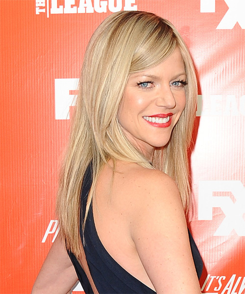 Kaitlin Olson Long Straight Formal   Hairstyle   - Side on View