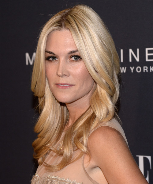 Tinsley Mortimer Long Wavy Formal   Hairstyle   - Side on View
