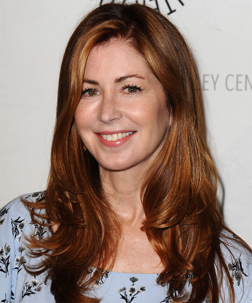 Dana Delany Long Straight Casual   Hairstyle   - Side on View
