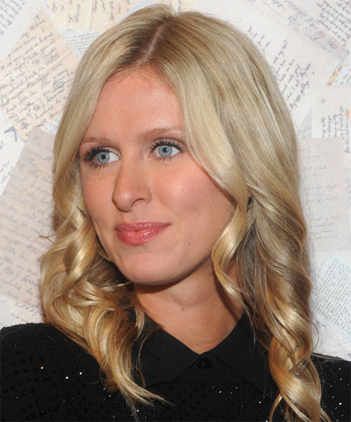 Nicky Hilton Long Wavy Casual   Hairstyle   - Side on View