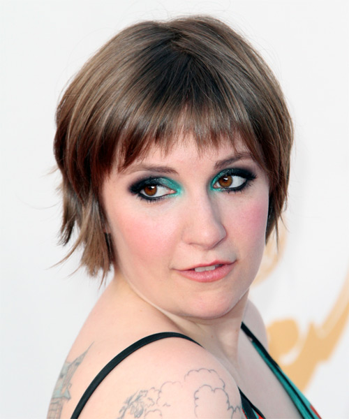 Lena Dunham Short Straight Casual   Hairstyle   - Side on View