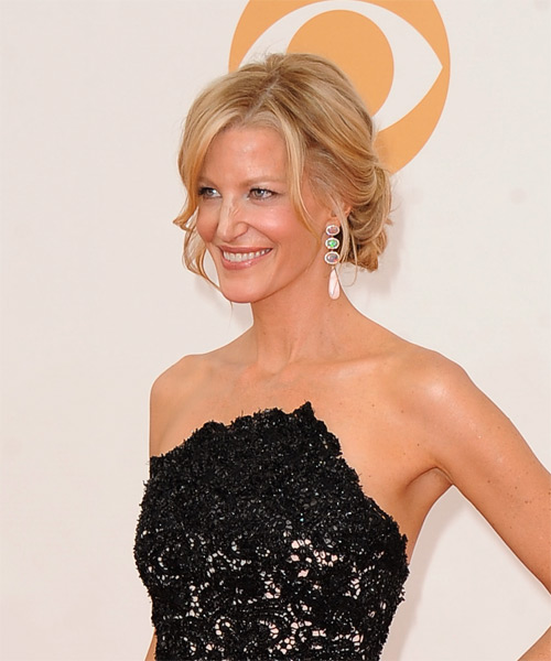 Anna Gunn Updo Long Curly Formal  Updo Hairstyle   - Side on View