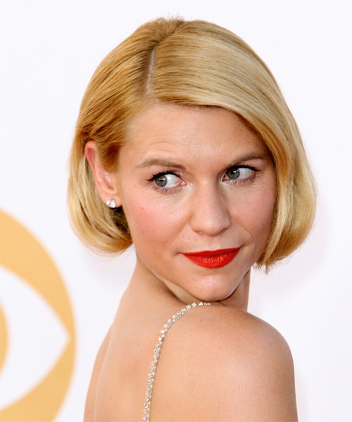 Claire Danes Short Straight Formal   Hairstyle   - Side on View