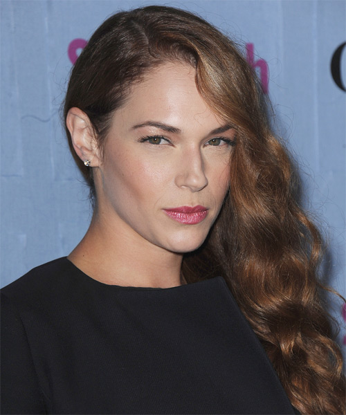 Amanda Righetti Long Wavy Formal   Hairstyle   - Side on View