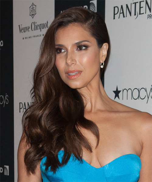 Roselyn Sanchez Long Wavy Formal   Hairstyle   - Side on View