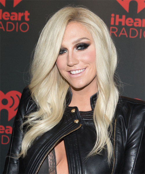 Kesha Long Wavy Casual   Hairstyle   - Side on View