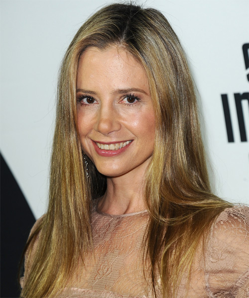 Mira Sorvino Long Straight Casual   Hairstyle   - Side on View