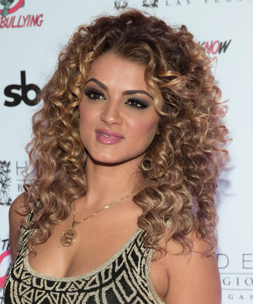 Golnesa Gharachedaghi Long Curly Casual   Hairstyle   - Side on View