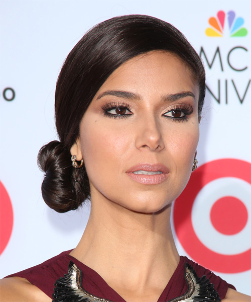 Roselyn Sanchez Updo Long Straight Formal  Updo Hairstyle   - Side on View