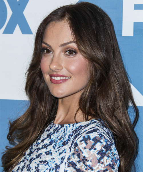 Minka Kelly Long Straight Casual   Hairstyle   - Side on View